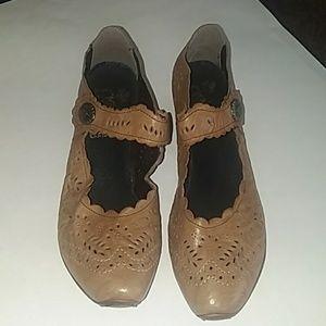 Rieker tan shoes